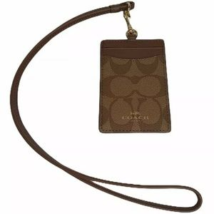 Coach ID Lanyard in Signature ID Holder Wallet